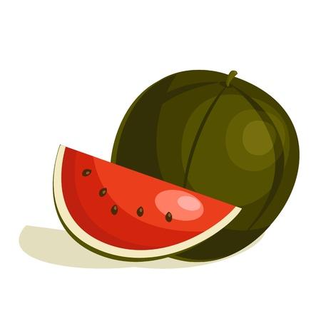 cartoon watermelon Vector