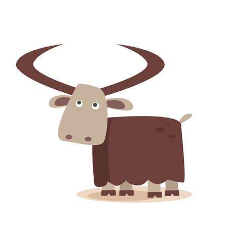 yak: cartoon yak Illustration