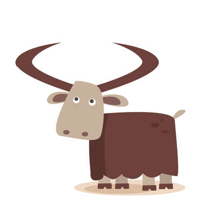 cartoon yak Illustration