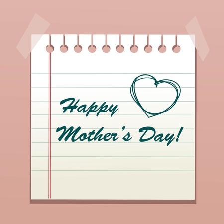 dzień matki: Wszystkiego najlepszego z okazji Dnia Matki wiadomoÅ›ci, Ilustracja wektora