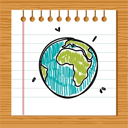 Hand drawn earth Stock Vector - 9445426