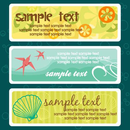 place for text: Etiquetas de verano con lugar para texto