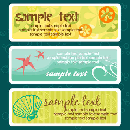 Summer tags with place for text
