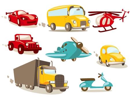 Cartoon vehicles Stock Vector - 9817720