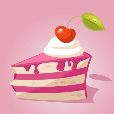 porcion de torta: Pedazo de pastel
