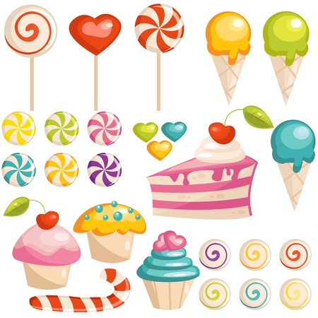 Set of sweets icons 일러스트