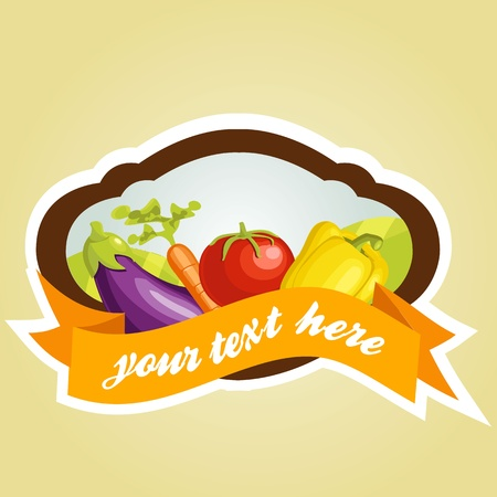 Vegetable label Stock Vector - 9817726