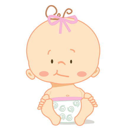 crawl: Cute baby , vector illustration Illustration