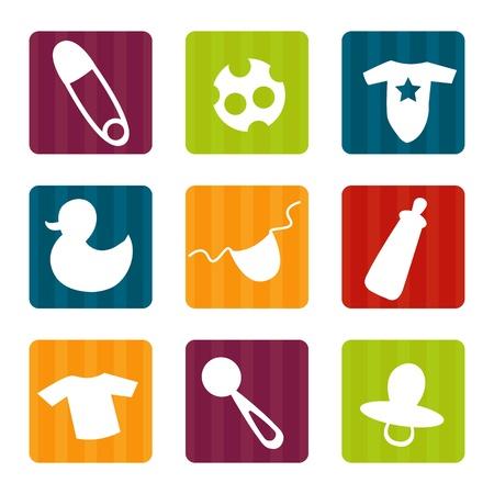Iconos de bebé, ilustración vectorial Ilustración de vector