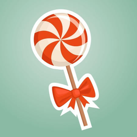 lollipops: Cartoon candy, vector illustration