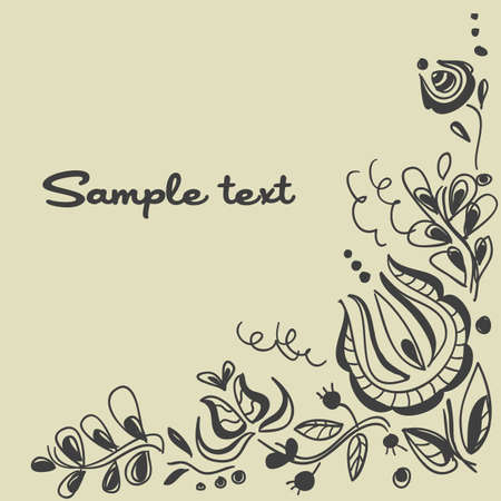 Floral background, vector illustration Stock Vector - 10347290