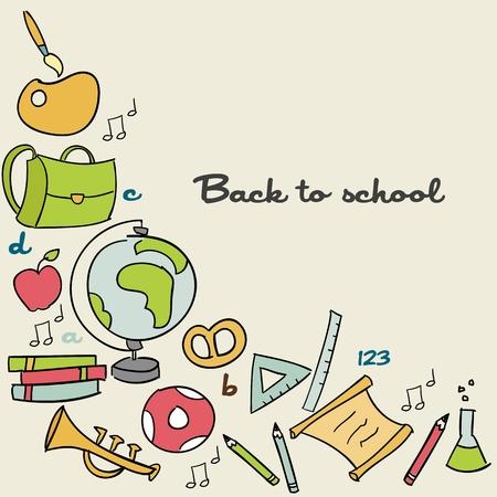 schulklasse: Zur�ck zu Schule Background, vector illustration