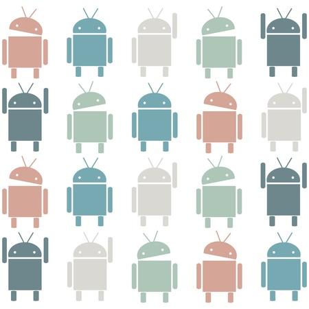 Robot pattern, vector illustration Editorial
