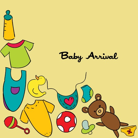baby arrival: baby arrival. Illustration