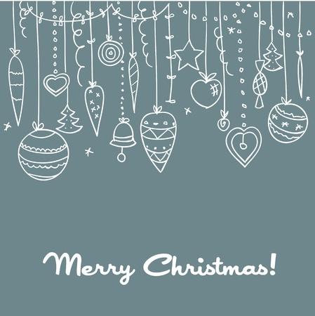 Hand drawn Christmas background.