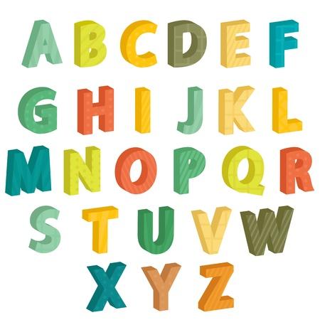 Colorful letters, illustration