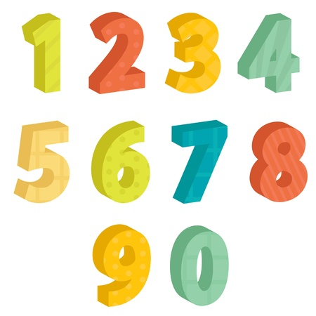 Colorful numbers, illustration Stock Vector - 10779469
