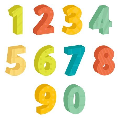 számok: Színes számok, illusztráció