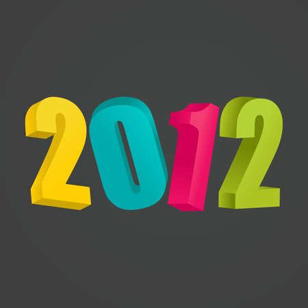 gleam: New Years card 2012 illustration