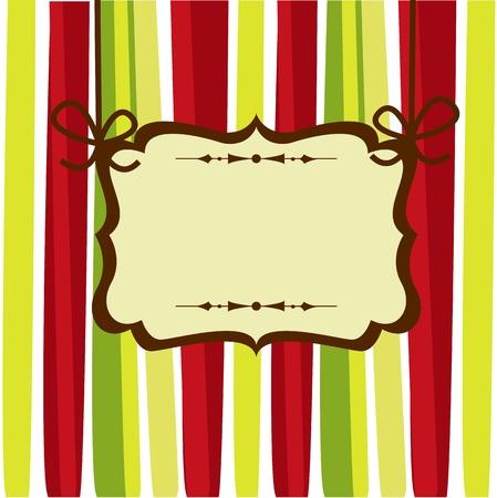 Christmas card illustration Vector