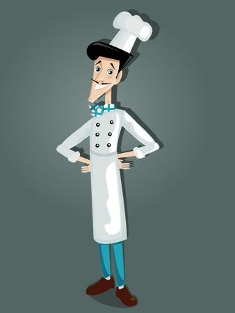 Italian chef, illustration Vector