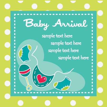 Baby arrival for boys, illustration Stock Vector - 12304633
