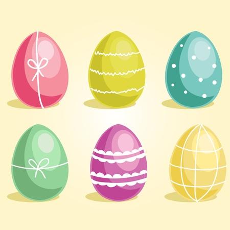 Easter eggs,  vector illustration Vector
