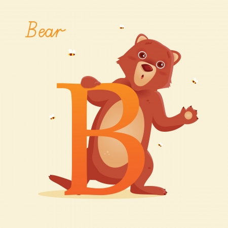 Animal alphabet with bear Stock Vector - 13963742