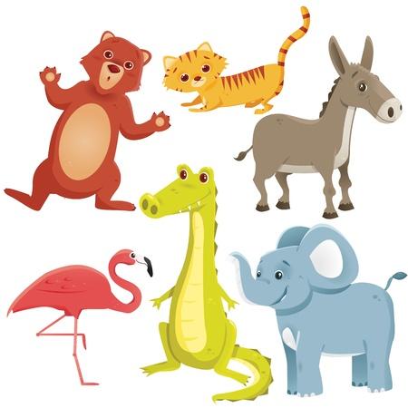 wild donkey: Cartoon animals, vector illustration Illustration