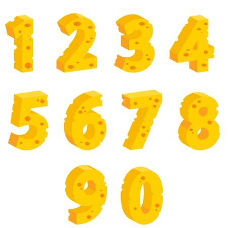 swiss cheese: Cheese  decorative numbers