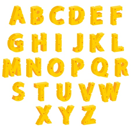 swiss cheese: Cheese  decorative letters