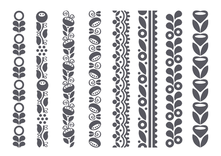 Decorative borders, vector illustration Çizim