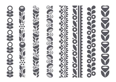 Frontières décoratifs, illustration vectorielle Banque d'images - 55328612