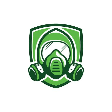 Gas mask, color vector illustration on white background