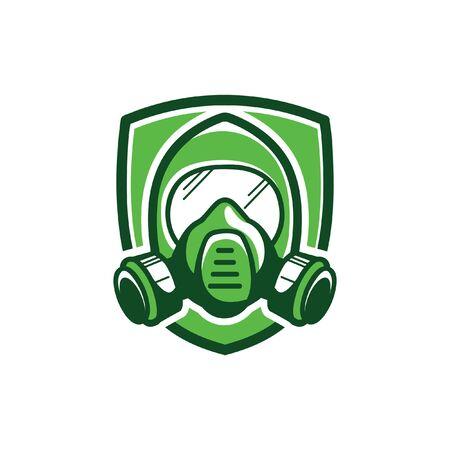Gas mask, color vector illustration on white background Vektorgrafik