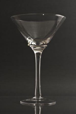 Empty martini glass Фото со стока