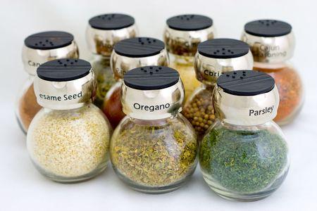 Negen speces, alles wat u nodig heeft in uw keuken  Stockfoto - 2512890