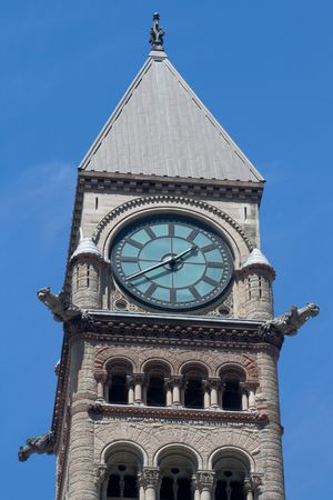 Toronto Old City Hall  Clock from Bay and Queen Corner photo