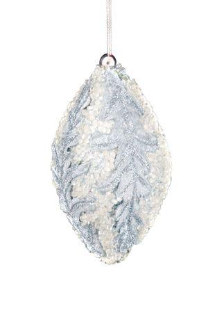 Kerst versiering op een witte achtergrond.