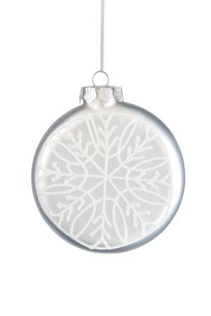 Kerst bal op een witte achtergrond.