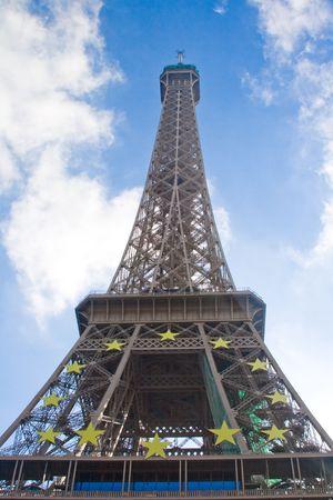 Tour Eiffel, Champs de Mars, Parijs, Frankrijk