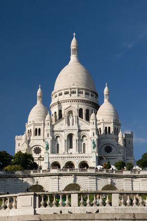 Basilique du Sacre Coeur de Montmartre, Paris, Frankrijk Stockfoto