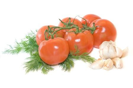 Gezond eten - tomaten, knoflook en de dille
