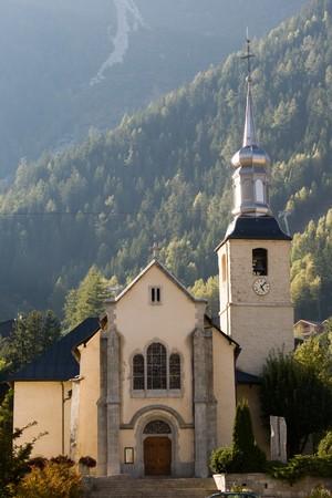 Kleine kerk in de Franse Alpen, Chamonix