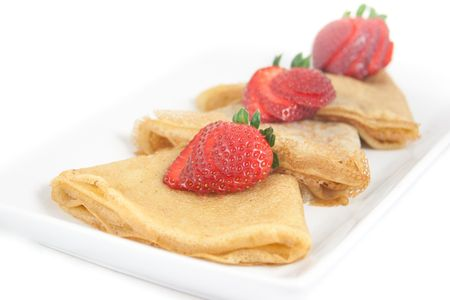 Crepes are traditional French and russian food Stock Photo