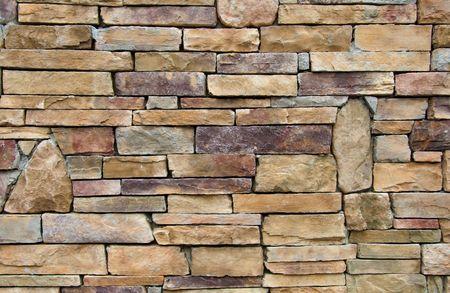 steen muur op een horizontale weergave pakhuis