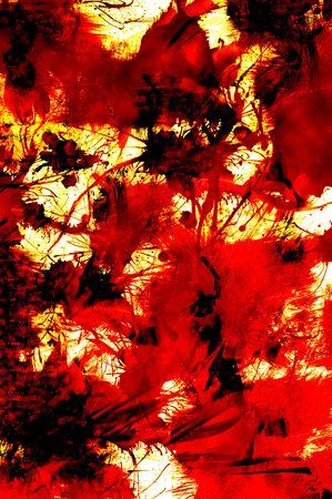 Illustration of paint splatters