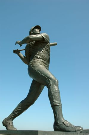 Statue of baseball legend Willie McCovey in San Francisco, California photo