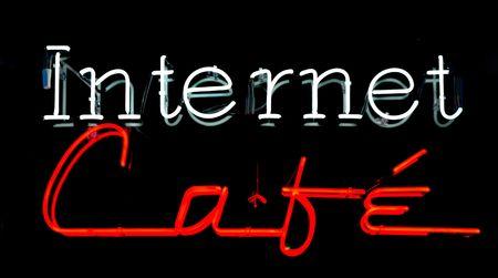 cafe internet: Internet Cafe signo de ne�n