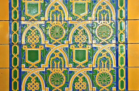 privy: Art deco style ceramic tile